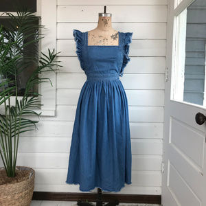 Silence + Noice Chambray Overall Dress